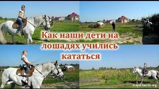 Как наши дети на лошадях учились кататься: обучение верховой езде недалеко от Киева