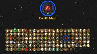 LEGO Star Wars: The Complete Saga - All Characters Unlocked (Complete Character Grid)