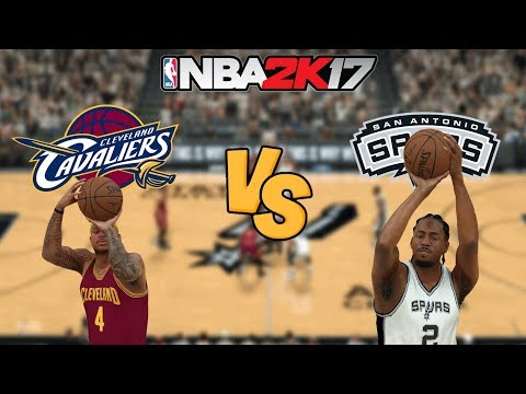 NBA 2K17 - Cleveland Cavaliers (ISAIAH!) vs. San Antonio Spurs - Full Gameplay (Updated Rosters)