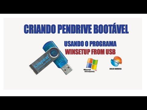 CRIANDO PENDRIVE COM WINDOWS XP