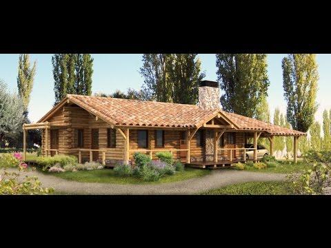 Como construir una casa de madera rustica youtube for Casas campestres rusticas