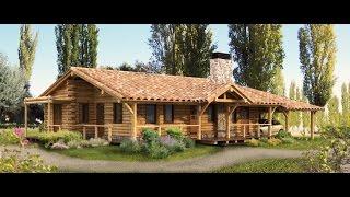 como construir una casa de madera rustica