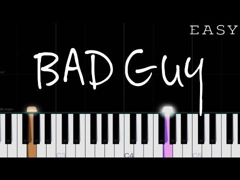 Billie Eilish - Bad Guy | EASY Piano Tutorial