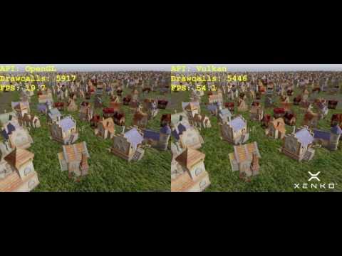 Xenko 1.8 - Mutithreading: OpenGL vs Vulkan