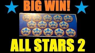 ★ BIG SLOT MACHINE WIN! ALL STARS II & WICKED WINNINGS 2! Slot Machine Bonus! ~Aristocrat (DProxima)
