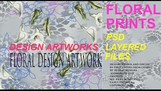 Floral Prints & Design Artworks Vol. 1 | PSD Layered Files