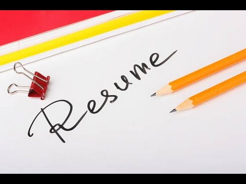 How to write your first Resume -- Interview Tips - YouTube