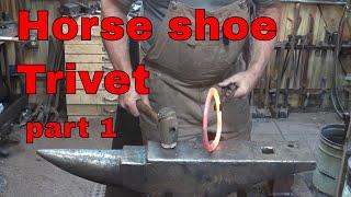 horse shoe trivet - part 1 - New Mexican ironwork
