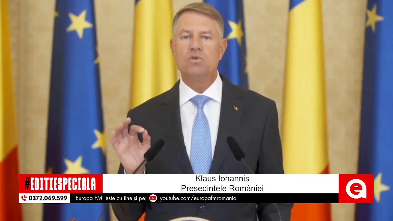 Klaus Iohannis face declarații după creşterea alarmantă a cazurilor de coronavirus în România