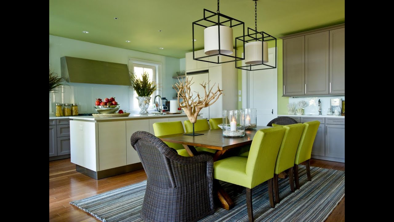 Green dining room design - Very Impressive White Green Dining Room Ideas