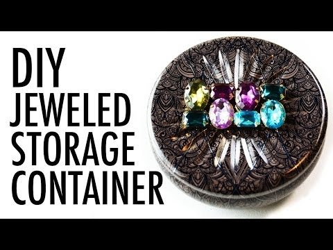DIY Jeweled Upcycled Candle Container