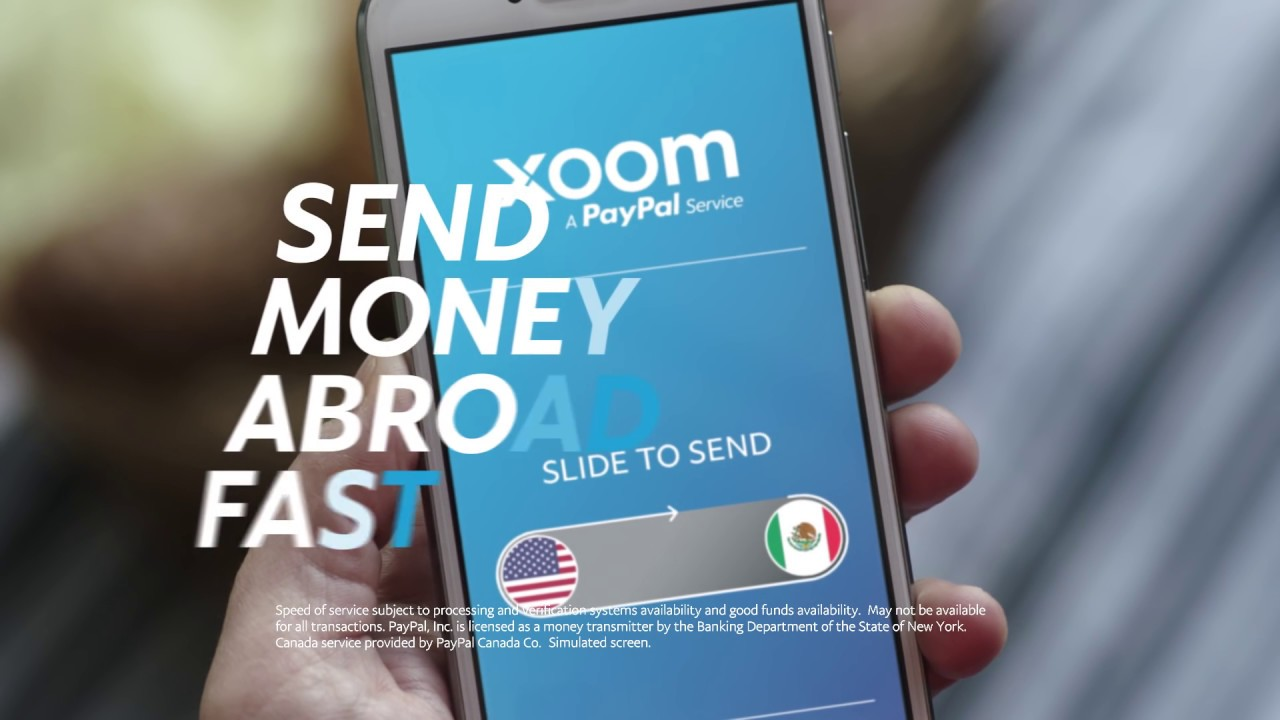 Send money abroad fast with Xoom, a PayPal service!