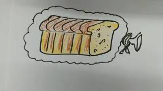 how to draw a loaf word? drawing, sketch, art, quick draw, craft, how to draw