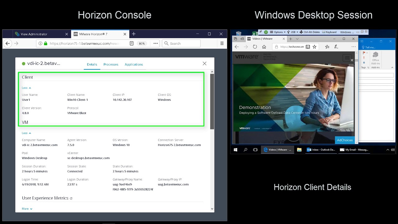 Quick-Start Tutorial for VMware Horizon 7 | VMware