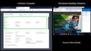 VMware Horizon v7.5 Help Desk Tool Feature Walkthrough