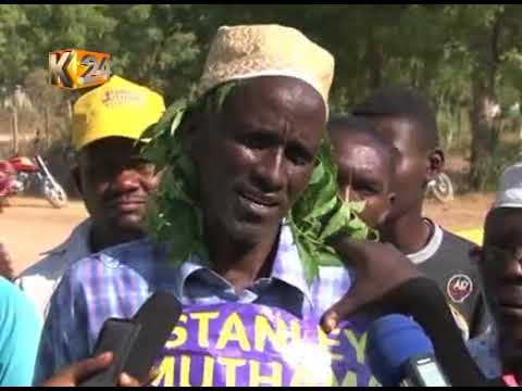 Mpeketoni residents protest Lamu West MP Stanley Muthama's election nullification
