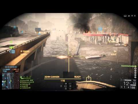 Battlefield 4 - ZBD-09 on Flood Zone (30 Killstreak in APC)