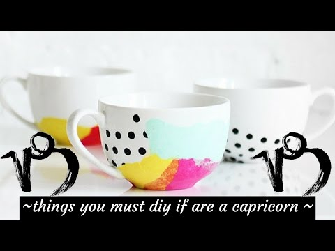 THINGS 2 DIY IF YOU ARE BORN AS CAPRICORN 🐐 ZODIAC EP.1🌌