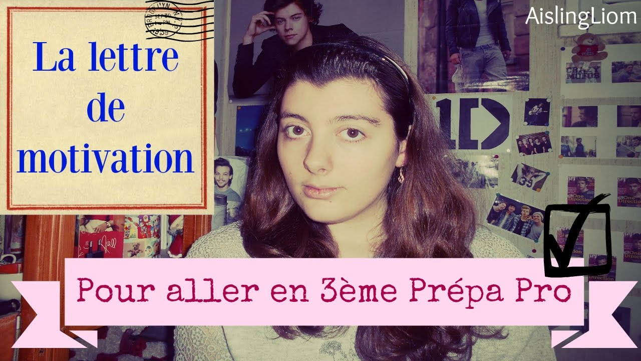 modele lettre de motivation 3eme prepa pro