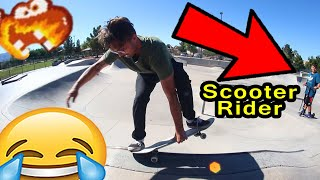 Scooter Rider Makes Flawless Plan!