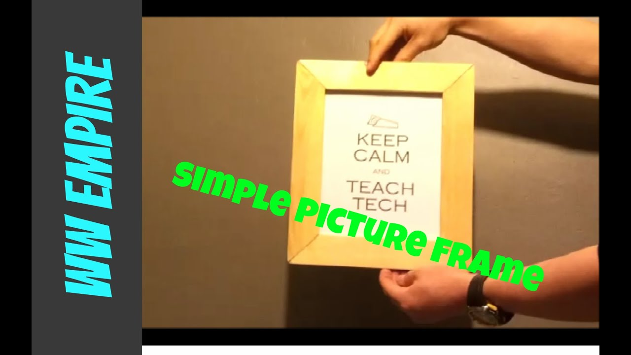How to make a simple picture frame youtube how to make a simple picture frame jeuxipadfo Image collections