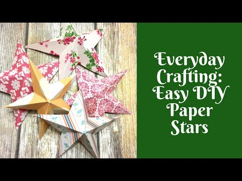 Everyday Crafting: Easy DIY Paper Stars