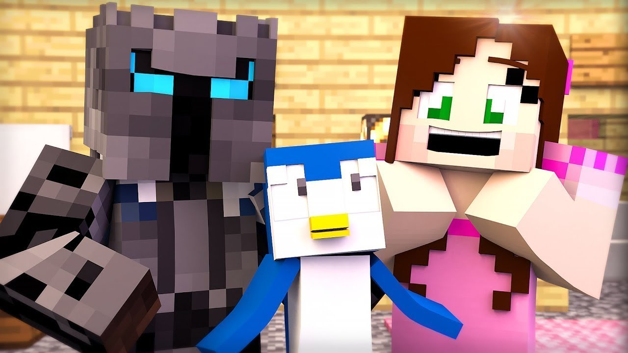 Minecraft: PENGUINS HIDE AND SEEK!!! - Animation - YouTube