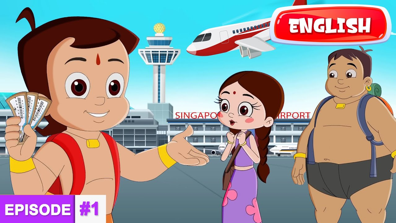 Chhota Bheem's Adventures in Singapore - The Journey Begins | Full Episode #1 in English
