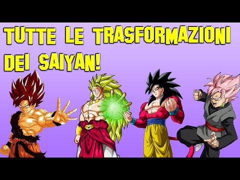 TUTTE LE TRASFORMAZIONI DEI SAIYAN!