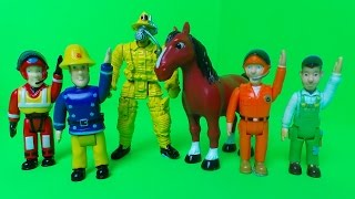 Feuerwehrmann Fireman Sam Colors for Children to Learn English with Firefighters and Colours fun !