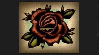 Speed Drawing Lesson - How to draw a Rose Tattoo Neo-Traditional Design Tutorial