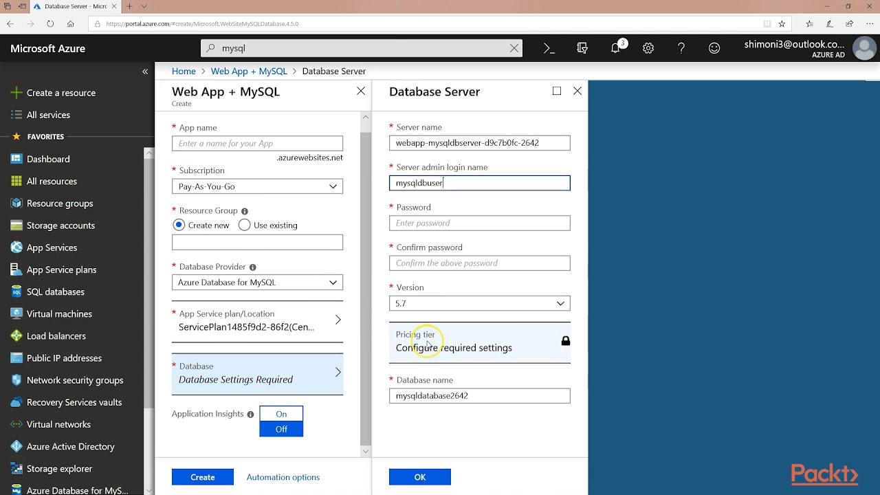 Build & Deploy Web App on MS Azure: MySQL Database Solutions on Azure    packtpub com