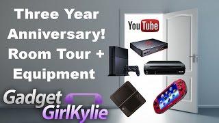 GadgetGirlKylie Youtube Three Year Anniversary - Room Tour + Equipment