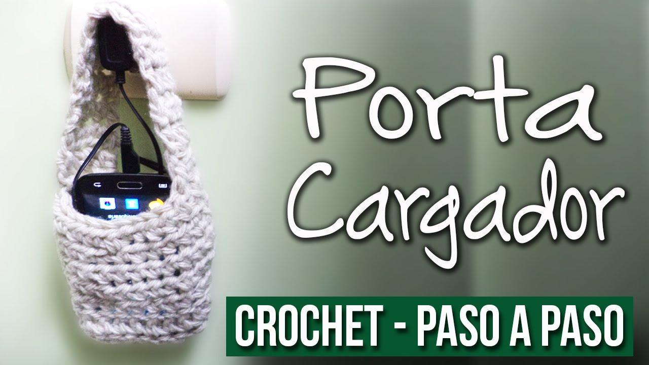 Porta Cargador de Celular - Tejido En Crochet Paso a Paso ...