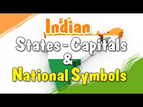 Learn Symbols, States & Their Capitals of India | Animated Video | General Knowledge for Kids