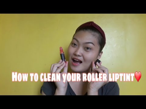 Paano linisan ang inyong Liptint❤| how to clean your roller liptint
