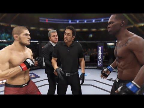 Khabib Nurmagomedov vs. Israel Adesanya (EA sports UFC 3) - CPU vs. CPU