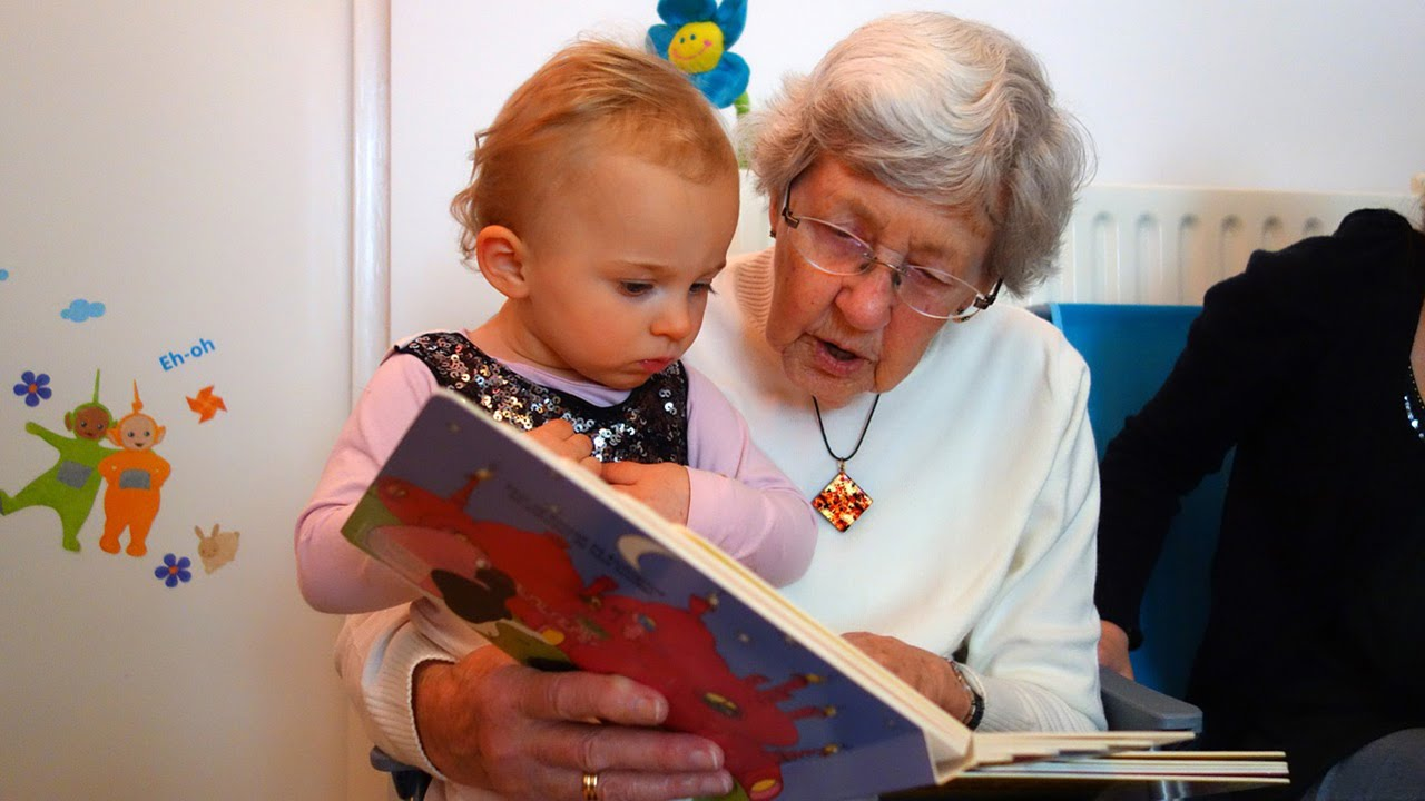 Combining daycare for children and elderly people benefits all generations