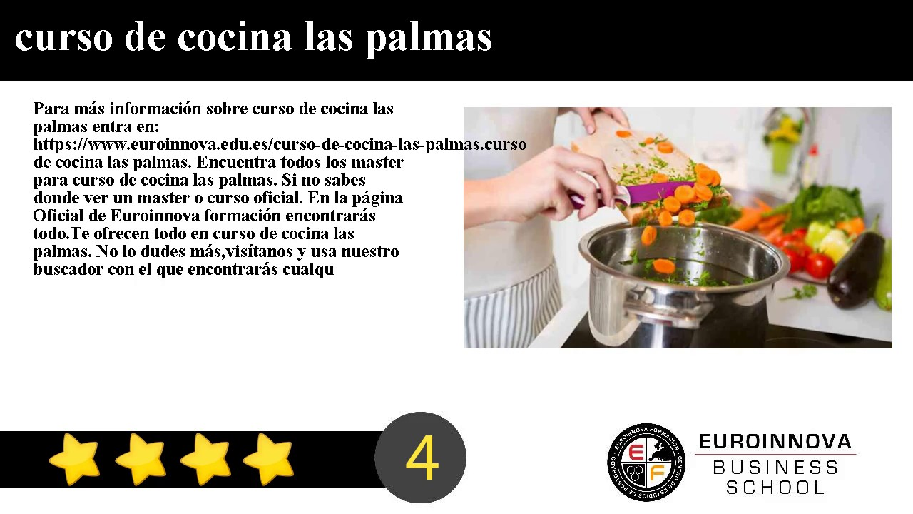 curso de cocina las palmas youtube