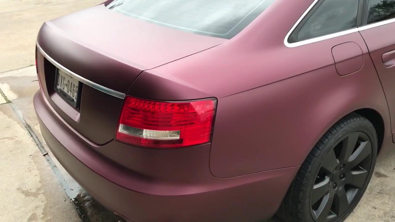 Nebula red plasti dip Audi A6 - YouTube