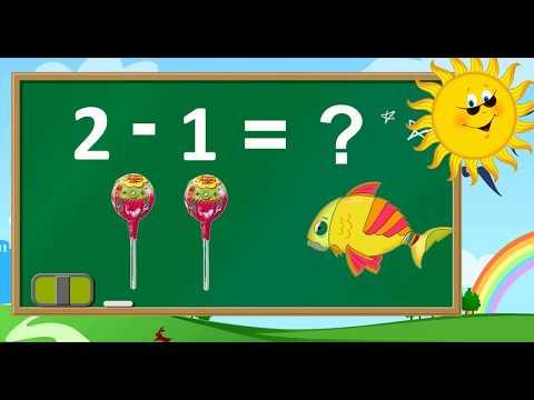 Thanh nấm - Toán lớp 1: Dạy bé học phép toán trừ trong phạm vi 3