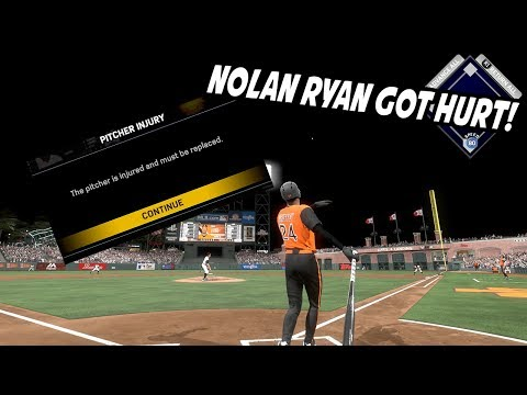 NOLAN RYAN GOT HURT AFTER 1 PITCH! - MLB The Show 17 Diamond Dynasty Gameplay