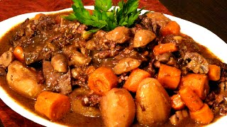 Boeuf Bourguignon (English)  Beef Bourguignon ©