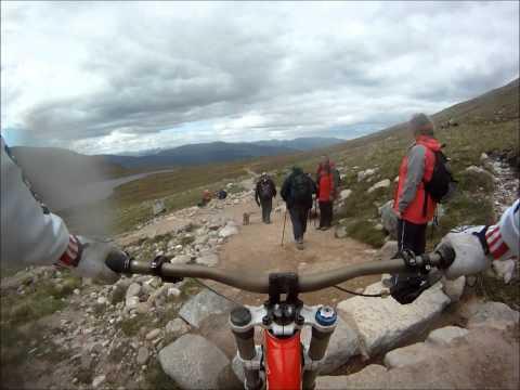 Downhill biking on ben nevis from summit GoPro