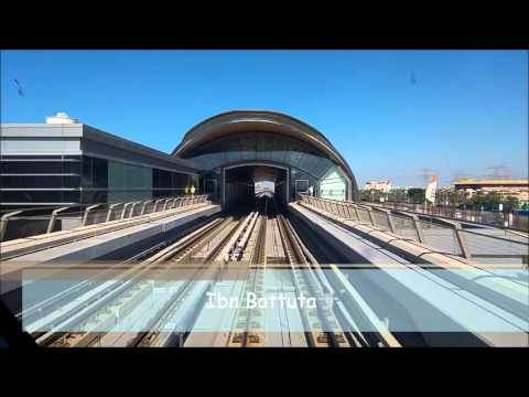 Dubai Metro 2015: Red Line Jebel Ali (UAE Exchange) - Rashidiya HD