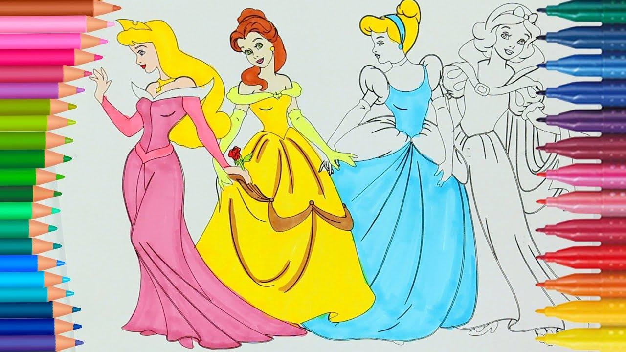 Pamuk Prenses Sindirella Uyuyan Güzel Ve Prenses Belle çizgi Film