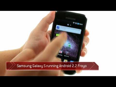 Samsung Galaxy S running Android 2.2 Froyo