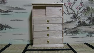 ミニチュア箪笥作り2/3(making Of Miniature Japanese Chest Of Drawers)