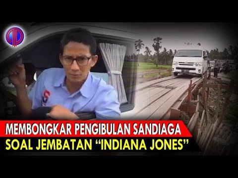 """Memb0ngk4r Pen9ibul4n K0ny0l Sandiaga Soal Jembatan """"Indiana Jones"""""""