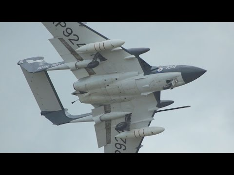 De Havilland DH-110 Sea Vixen FAW2 flying Display at RNAS Yeovilton Air Day 2015